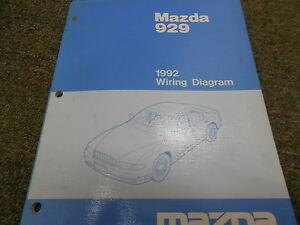 1992 mazda 929 electrical wiring diagram service repair manual 92 ebay