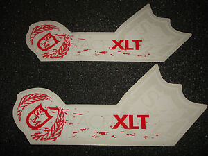 2-AUTHENTIC-S-M-RACE-RED-WHITE-XLT-BICYCLES-STICKERS-DECALS-11-AUFKLEBER