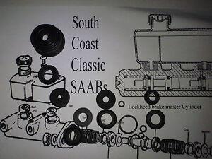 SAAB 95 96 V4 Sonett NEW brake master cylinder kit LOCKHEED SSB1217