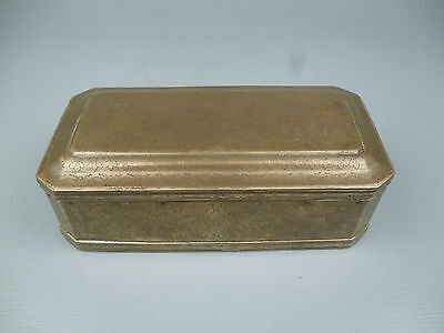 Antique 18th Century Engraved Brass Betel Nut Box - Indo Dutch Islam Indian VR