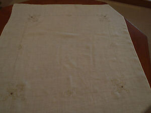 Fine lawn/linen? tablecloth 88 cm square ~ unknown origin, but quite old