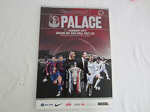 2012 CARLING  CUP SEMI - FINAL  1ST LEG CRYSTAL PALACE v CARDIFF CITY