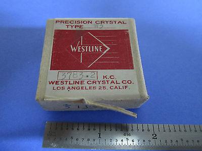 Vintage Ft-243 Quartz Radio Crystal Westline Los Angeles Frequency 3783.2 Kc