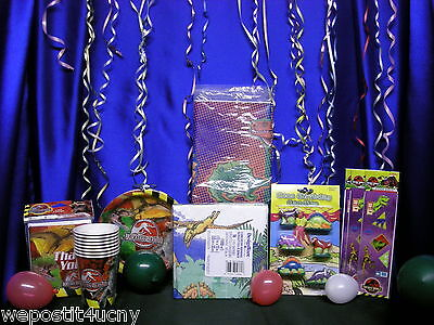 Jurassic Park Party Set 10 Dinosaur Supplies Stickers Dino Candles Plates