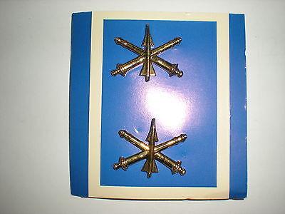 US ARMY AIR DEFENSE ARTILLERY OFFICER COLLAR BADGES - 1 PAIR