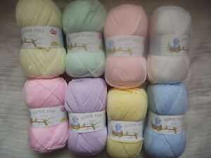 100g-Super-Soft-Baby-Double-Knitting-Wool-James-C-Brett-Choice-of-Colours
