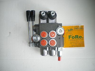 Steuerventil Hydraulikventil 50 l 2-fach Holzspalter Hydraulik Steuergerät