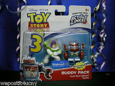 Toy Story Lazer Buzz Lightyear Sparks Figure Buddy Pack Great Gift