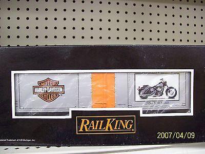 Mth Railking O Harley Davidson 40' Window Box Car 2001 Dyna Low Ride 30-74196