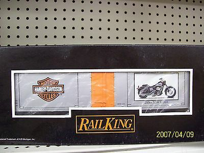 Mth Railking O Harley Davidson 40' Window Box Car 2001 Dyna Low Ride 30-74196