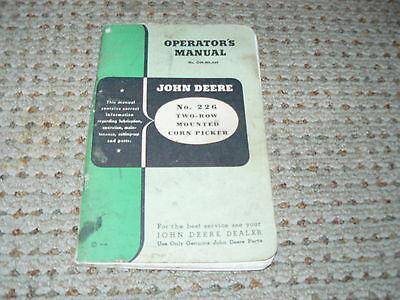 John Deere No. 226 Corn Picker Operator's Manual