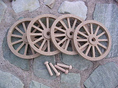 Wagon & Cannon Wheels - 3½ Inch Diameter Mdf Miniature Wooden Scale Model Toy