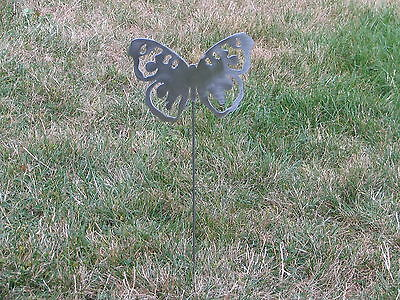 Beautiful Butterfly Garden Yard Art Metal Stake Flower Insect Bug 1