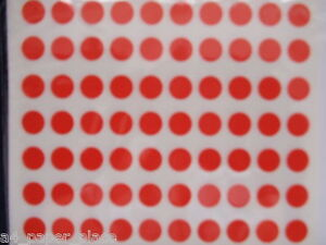 280 x 8mm Round Coloured Labels STICKY DOTS STICKERS CIRCLE CODE SELF ADHESIVE