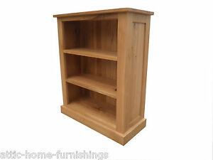 Large Solid Oak Bookcase Two Shelves FREE DELIVERY