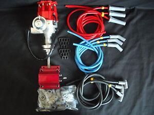 DISTRIBUTOR ELECTRONIC CHRYSLER 318 340 360 R TO R INC COIL AND  PLUG LEAD KIT
