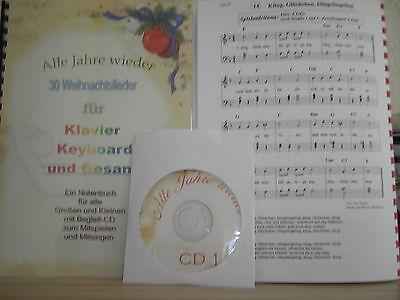 30 Weihnachtslieder für Klavier - Noten und Begleit-CDs