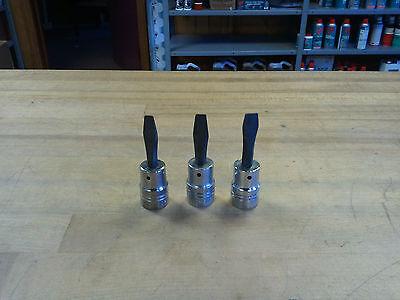 Armstrong 1/2 Drive, Screwdriver Sockets, 3-piece Assortment, 1/4, 5/16, 3/8