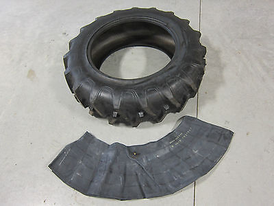 13.6x28 Tractor Tire + Innertube Ford Holland 8 Ply 13.6-28 13.6 28 R1