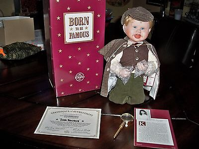 NIB, ASHTON DRAKE  'LITTLE SHERLOCK' PORCELAIN DOLL!!
