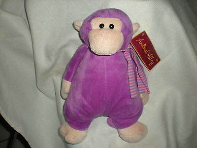 Plush Animal Alley Toys R Us Purple Monkey Scarf Chunky Lovey 12