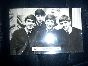 The-Beatles-1963-PROMOTIONAL-ORIGINAL-BREL-PHOTORAGH-POSTCARD-CS124-near-MINT