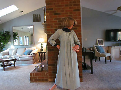 Nightgown Long Flannel Turtleneck Popover Made In Usa S -3xl Great Buy