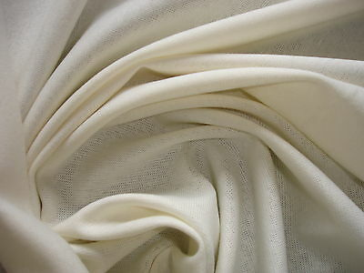 1Lfm Bündchenstoff 3,55€/m² Baumwolle Lycra naturweiß