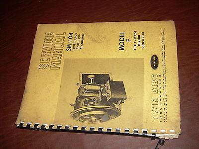 Twin Disc Model 10000 Model F Standard Transmission Repair Service Manual