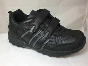 BOYS-BLACK-VELCRO-SCHOOL-SHOES-FAUX-LEATHER-SPORTS-TRAINERS-PUMPS