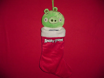 Angry Birds Green Pig Christmas Stocking Stuffer House Decoration Plush Holds