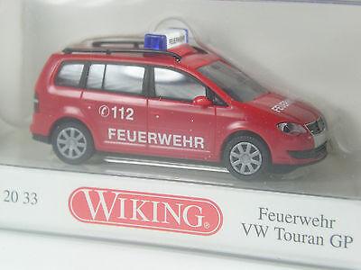 Top: Wiking Serienmodell Vw Touran Gp Feuerwehr In Ovp