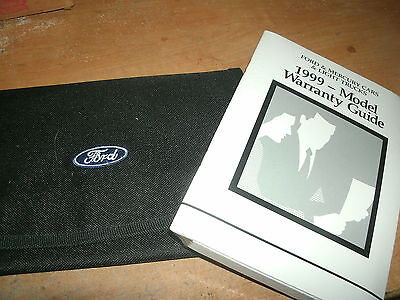 1999 Ford Mustang And Gt Factory Owners Manual Packet W Warranty Guide Case