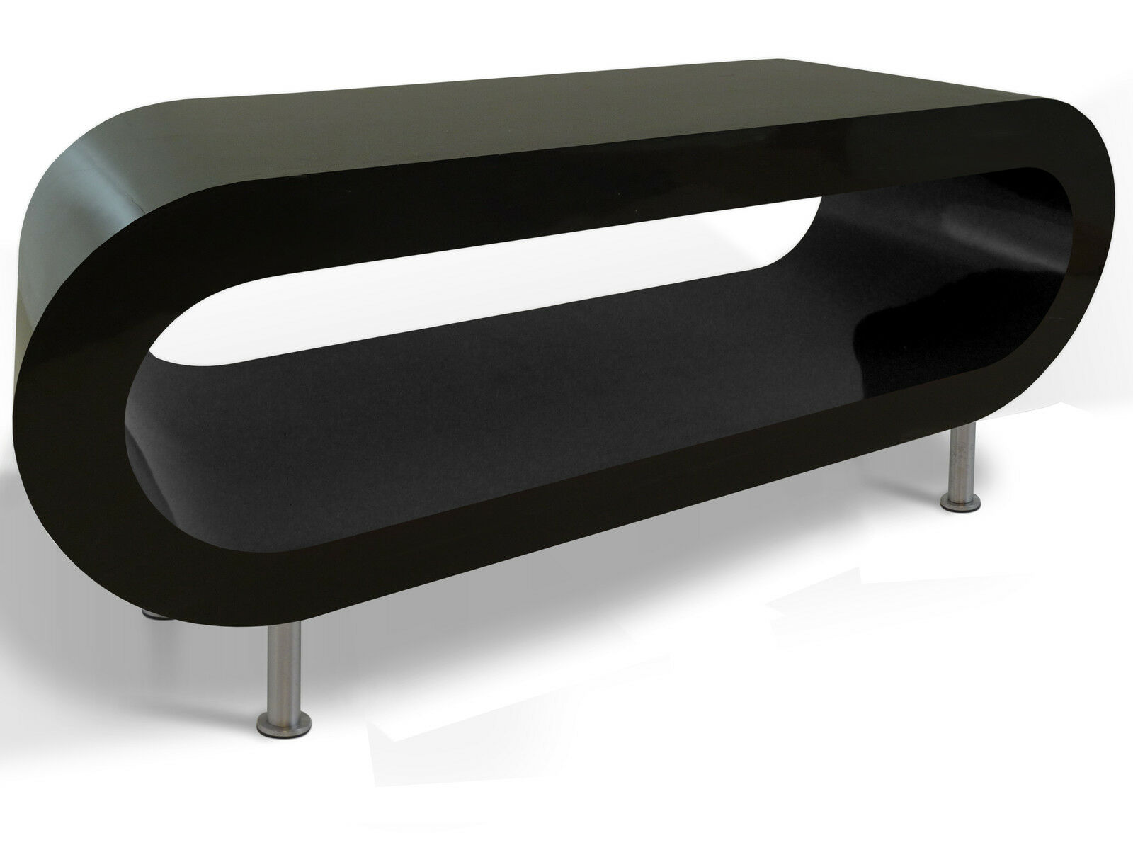 High Gloss Coffee Table Black Bespoke Designer Small