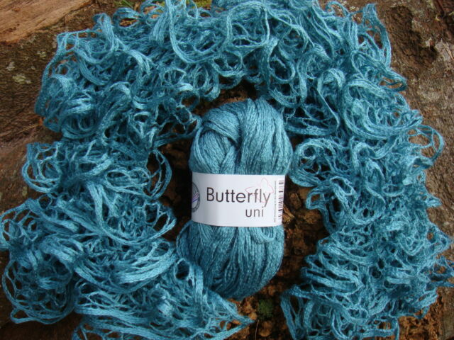 Grundl BUTTERFLY UNI. 43 JADE. 50g ball. TAPE / SCARF yarn