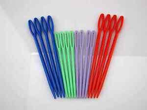 New-16-multicolor-Plastic-Sewing-Yarn-Darning-Needles-Notions-L-S