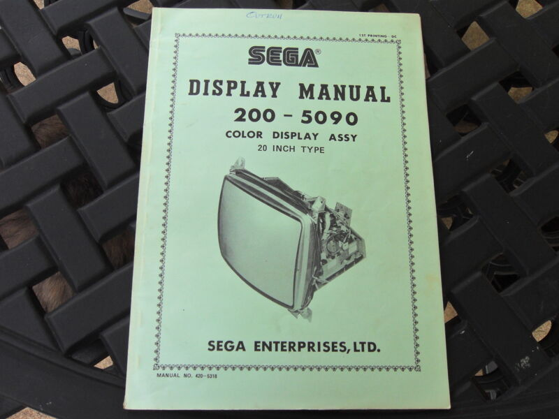 SEGA Display Manual for 200-5090 Color Display Assy 20 Inch Type