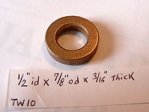 Oilite Thrust Washer Bronze New 1/2
