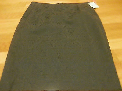 Intuitions Size 6 Skirt Rich Charcoal Stretch Pencil
