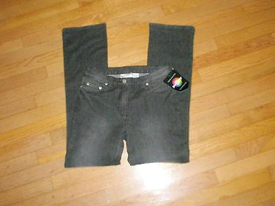Women's Sz 4 Black Jeanology Distressed Jeans 29x32 Stretch 56871