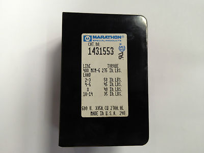 Marathon 1431553 Power Distribution Block 1 Pole 335 Amp 1 In 6 Out - Used