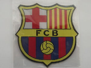 fc barcelona -  badge embroidery - new - sew or iron - fc barcelona spain