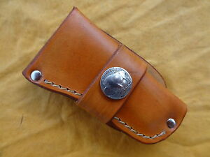 Handmade-Leather-Knife-Sheath-Buck-110-Case-Folding-Hunter-Moore-Maker