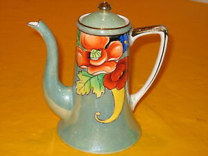 ART-DECO-NORITAKE-GOLD-LUSTRE-TEA-COFFEE-POT-0-75-Pt-0-5-81B