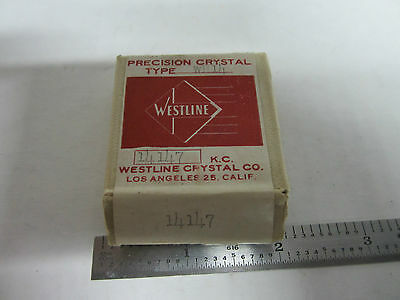 Vintage Ft-243 Quartz Radio Crystal Westline Los Angeles Frequency 14147 Kc New