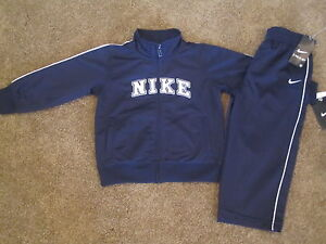 NWT-Nike-Boys-2-Piece-Tracksuit-Outfit-Set-Jacket-Pants-Navy-Blue-24-Months