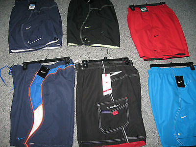 Nike,speedo,tyr,or Columbia Men's Swim Trunks, Polyester,...