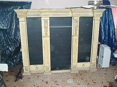 VINTAGE SIGNED PHYLLIS MORRIS 3 SECTION CONSULATE DISPLAY CABINET W/DOCUMENTS