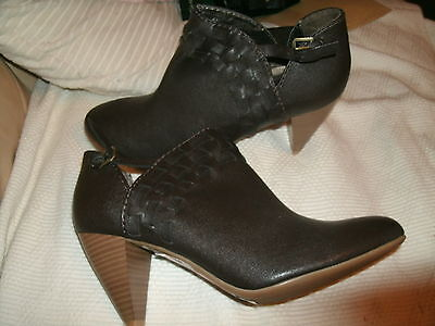 Marks & Spencer Limited Collection Brown Heels Ankle Boots Brand Uk 6.5