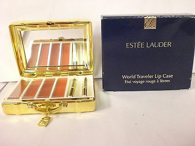 Estee Lauder World Traveler Lip Case With 4 Signature Hydra Lustre Lipstick